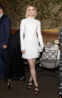 Bella Heathcote in Calvin Klein Collection and Stuart Weitzman shoes