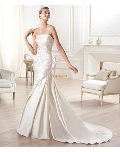 Meerjungfrau-Linie/Mermaid-Stil Übergrößen 3/4 Arm Brautkleider 2014