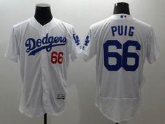 Los Angeles Dodgers #66 Yasiel Puig White 2016 Flexbase Majestic Baseball Jersey