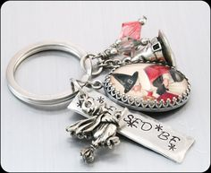 Wiccan Key Chain Witch Keychain Key Chain by BlackberryDesigns, $43.00