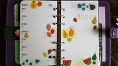 FILOFAX Work Wochendeko /Filofax Decoration Week 31 #Deko2gether Fruits