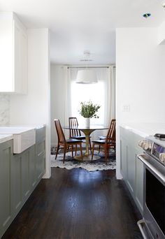 IKEA HACK kitchen remodel - using Ikea cabinets and semihandmade cabinet doors - partially Ikea, partially custom = custom look for discounted prices! | Remodelista