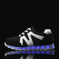 B1095 Kids Light Led Sneakers Black - Flashing.Shoes - 1
