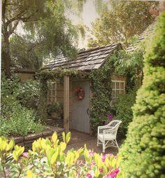 Sweet shed and mini backyard scene.