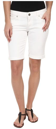 Paige Jax Knee Short in Optic White (Optic White) Women's Shorts - Paige, Jax Knee Short in Optic White, 1798274-OWT-101, Apparel Bottom Shorts, Shorts, Bottom, Apparel, Clothes Clothing, Gift, - Fashion Ideas To Inspire