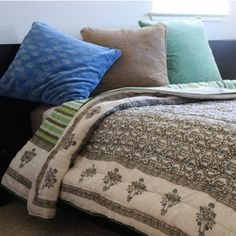Organic Cotton Block Print Quilt (India)