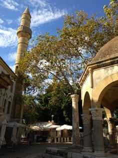 Kos Town, the mosque and Hippocrates plane tree