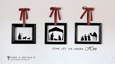 free printable nativity silhouette - Google Search