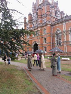 Filming at Royal Holloway