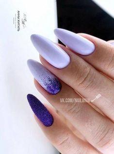 Fails Art Purple Marble Ideas For 2019 Purple Acrylic Nails, Summer Acrylic Nails, Best Acrylic Nails, Purple Nails, Nail Manicure, Manicures, Gel Nails, Nail Polish, Fire Nails