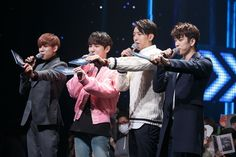 MC Stills and Winners Stage: Key (SHINee), Jr. and BamBam (Got7), and Jungshin (CNBlue)
