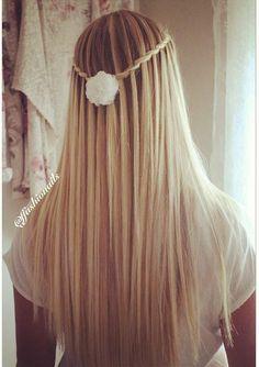 twisted waterfall braid
