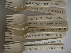 Mad Hatter Tea Party Utensils