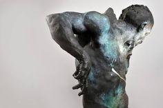 Alaaddin's Magic Lamp — Beth Cavener Stichter - Bringing Down the Moon. Abstract Sculpture, Lion Sculpture, Blue In Green, Plastic Art, Encaustic Painting, Artist Art, Painting Techniques, Art Dolls, Sculpting