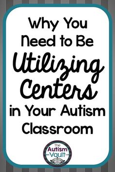 Working in centers is an evidenced-based practice that is utilized in autism classrooms. Not only is it effective for our students, it can actually make your teaching more effective and your planning easier.