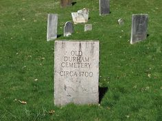 Old Durham Cemetery Main St.  Durham, Ct  The Old Cemetery in Durham, Connecticut was established in 1700 and has dozens of grave sites that date to the 18th Century. There are also many Revolutionary War veterans buried here, though their original gravestones were upgraded at some point. Like many other towns in New England, many of the people buried here still have descendants still living in the same town.