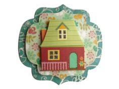New Home, 3D Scrapbook Embellishment, Paper piecing, gift tags, Scrapbooking Layouts, Cards, Mini Albums, brag book, Crafts