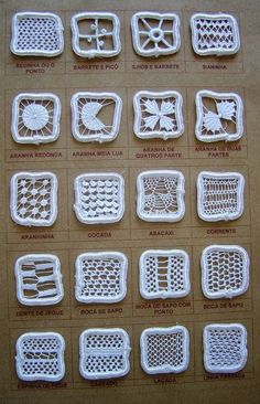 - ideas hermosas y diferentes Filet Crochet, Crochet Motif, Irish Crochet, Crochet Flowers, Crochet Lace, Hardanger Embroidery, Embroidery Stitches, Hand Embroidery, Needle Lace