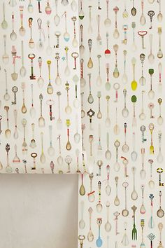 Teaspoons Wallpaper - anthropologie.com #AnthroFave