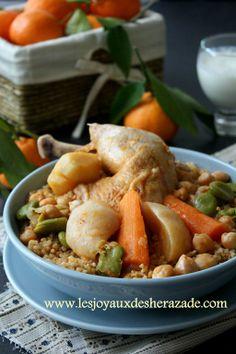 Couscous de boulghour au poulet - Les joyaux de sherazade : Recettes de cuisine algerienne et de monde.