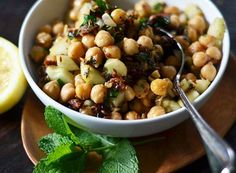 Chickpea salad w cucumber and sundried tomato - Aida Mollenkamp's Best 10-Minute Lunches