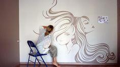 fresque salon de coiffure