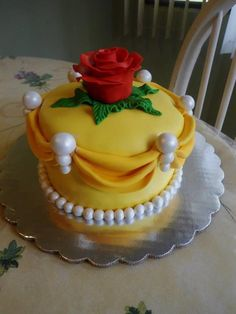 Beauty and the beast cake by PnJLover.deviantart.com on @deviantART