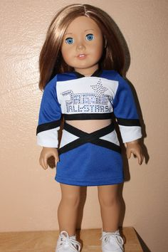 Prodigy cheer outfit for American girl doll by kim3717 on Etsy, $65.00