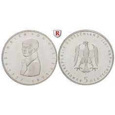 Bundesrepublik Deutschland, 5 DM 1977, Kleist, G, vz-st, J. 421: 5 DM 1977 G. Kleist. J. 421; vorzüglich-stempelfrisch 10,00€ #coins