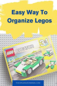 Find out how to easily organize your kids legos with our simple process. Check out the blog for step-by-step instructions on decluttering and organizing legos. Our simple solution helps you keep lego sets together while organizing the thousands of tiny pieces. Follow The Organized Mama for more organizing tips. Kids Bedroom Organization, Small Space Organization, Playroom Organization, Organization Hacks, Small Playroom, Kid Closet, Inspiration For Kids, Organizing Tips, Building Toys