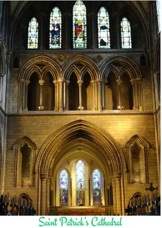 The Saint Patrick's Cathedral is a very special place to visit in Dublin