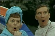"""Hattie Jacques and Kenneth Williams """"Carry on Camping"""