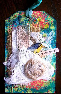 Sweet altered art tag