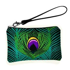 Clutch Wallet Wristlet Peacock Feathers Handbag #peacock #feather #clutch #bag www.loveitsomuch.com