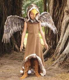 """Girl """"Regal Eagle"""" Costume. I think it could pass for an Owl Costume too!"""