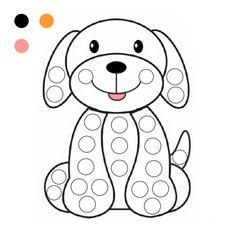35 шаблонов для пальчикового рисования Kindergarten Crafts, Preschool Learning Activities, Toddler Activities, Preschool Activities, Disney Coloring Pages, Coloring Books, Card Games For Kids, Do A Dot, Letter A Crafts