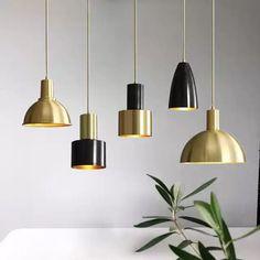 極簡黑銅吊燈北歐簡約現代個性牀頭美式咖啡廳飯廳小吧檯裝飾軌道