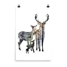 Deer Silhouette - Poster