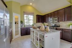 Kitchen wall color and glass pantry door!