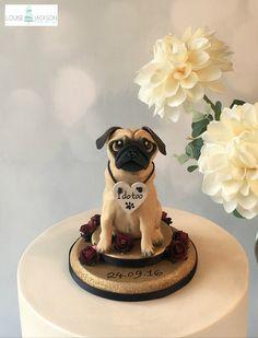 Pug Cake Topper - Custom Dog Cake Topper - Dog Wedding Cake Topper - Custom Dog…
