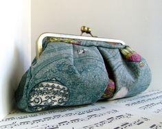 applique clutch purse