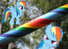 Rainbow Dash Style Hula Hoop - Collapsible Weighted Travel Hula Hoop - My Little Pony - red, orange, yellow, blue, green, purple