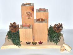 Adventkranz aus Zirbenholz Advent, Crown Cake