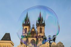 Soap Bubbles in Prague - Czech