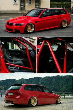 BMW E91 Touring with M3 BodyKit and Rotiform wheels