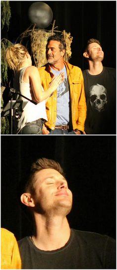 Jensen,Jeffery Dean Morgan and Samantha Smith #VegasCon15