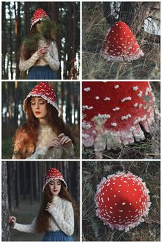 Crafts Fairy Red mushroom costume hat for adults - on Etsy, Folk festival hat inspired by fairytales and nature world beauty, Boho headdress for those who loves woodland style and believes in fairies. Costume Hats, Cosplay Costumes, Folk Costume, Mushroom Costume, Halloween Party, Halloween Costumes, Adult Costumes, Hallowen Ideas, Art Projects For Adults