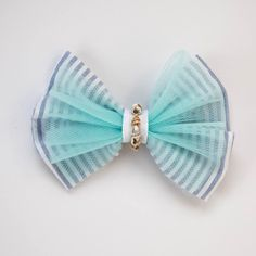 seersucker with aqua tulle and seashells embellishment. Babygotclothes on etsy. Girl Hair Bows, Seersucker, Seashells, Girl Hairstyles, Embellishments, Tulle, Aqua, Shelled, Ornaments