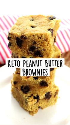Peanut Butter Frosting, Peanut Butter Brownies, Low Carb Recipes, Diet Recipes, Low Carbohydrate Diet, Keto Desserts, Ketogenic Diet, Deserts, Breakfast