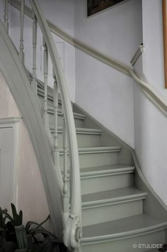 Painted Staircases, Staircase Railings, Painted Stairs, Staircase Design, Stairways, Carpet Stairs, House Stairs, Hallway Decorating, Interior Decorating
